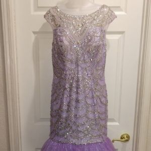 NWTags Tiffany Designs lilac Mermaid gown size 14